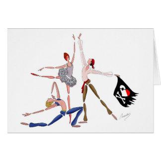 BALLET CORSAIRE  PIRATE BALLERINA CARD