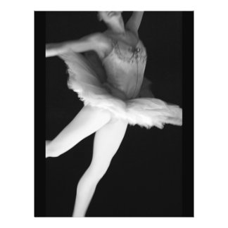 Ballet - Dance - Ballerina 9 - Black & White Flyers