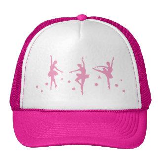 Ballet Dance Girls Pink Women Fancy Fun Party Show Trucker Hats