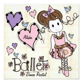 Ballet Dance Recital Invitation
