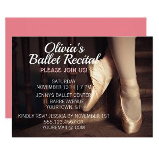 Ballet Dance Recital Invitation Ballerina Pink
