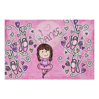 Ballet dance Wall Mural Poster Girls Bedroom