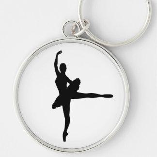 BALLET DANCER Arabesque (Ballerina silhouette) v2 Keychain