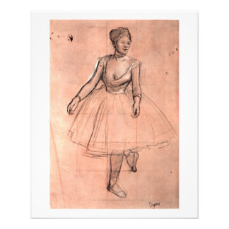 Ballet dancer art pretty ballerina sketch by Degas Flyers