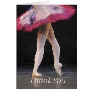 Ballet Dancer Blank Thank Greeting Card