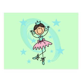 Ballet Dancer - Brown T-shirts and Gifts Postcard
