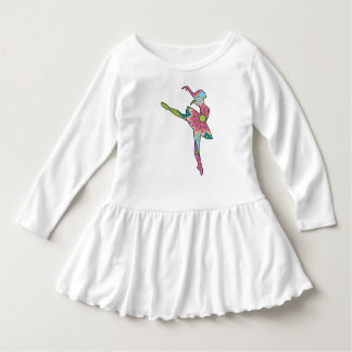 Ballet dancer colorful toddler ruffle dress