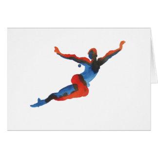 Ballet Dancer Flying Card