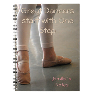 BALLET DANCER NOTEBOOK. PERSONAL GREAT DANCERS NOTEBOOKS