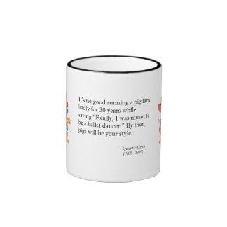 Ballet Dancer or Pig Farmer Ambition Quotation Coffee Mug