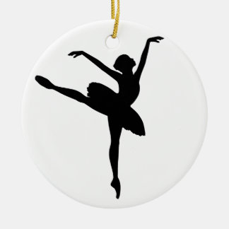 Ballet Dancer Round Ceramic Ornament