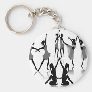 Ballet dancer set design keychain