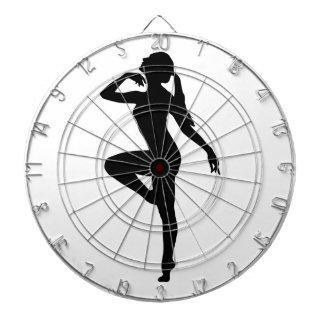 Ballet Dancer Silhouette Dart Board