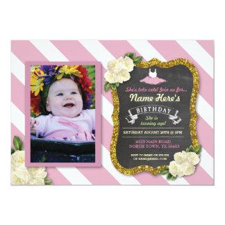 Ballet Dancer Tutu Cute Pink Party Birthday Invite