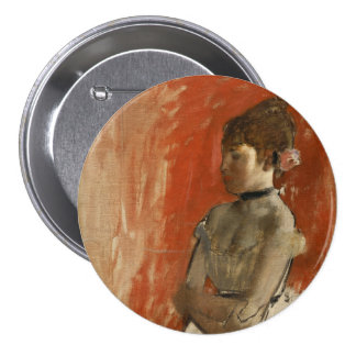 Ballet Dancer with Arms Crossed by Edgar Degas 3 Inch Round Button