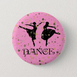 BALLET DANCERS 2 INCH ROUND BUTTON