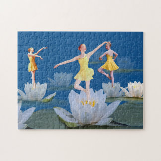 Ballet Dancers and Water Lilies Puzzle