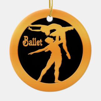 Ballet Dancers Ceramic Ornament