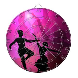Ballet Dancers Dartboard With Darts