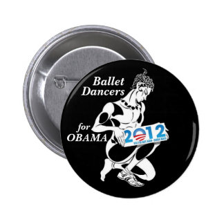Ballet Dancers for Obama 2012 2 Inch Round Button