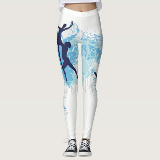 Ballet Dancers Lift Print Leggings