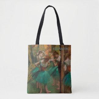 Ballet Dancers, Pink & Green | Edgar Degas Tote Bag