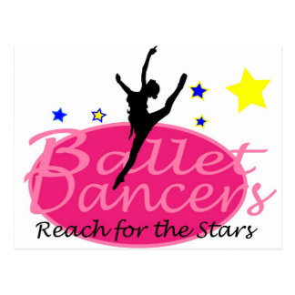 Ballet Dancers Reach for the Stars Postcard