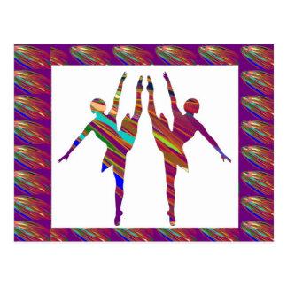 BALLET Dancers :  Very Artistic Dance Formations Postcard