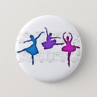 Ballet Day Ballerinas 2 Inch Round Button