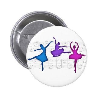 Ballet Day Ballerinas 2 Inch Round Button