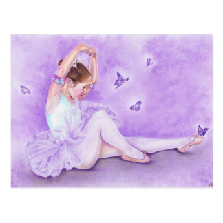 Ballet de papillon ballerina Postcard