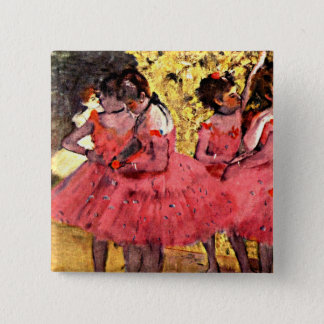 BALLET--Degas: The Pink Dancers 2 Inch Square Button