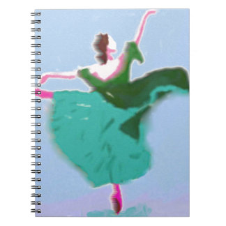 Ballet Dress Art Spiral Notebook