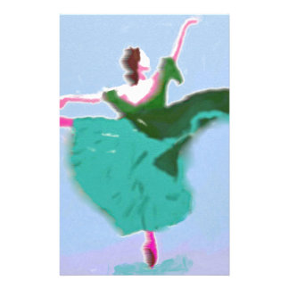 Ballet Dress Art Stationery