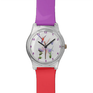 Ballet Fantasy, Flowers, Parrot, Butterfly Wrist Watch