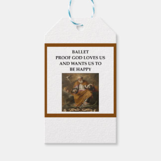 ballet gift tags