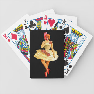 Ballet Hen Bicycle Playing Cards