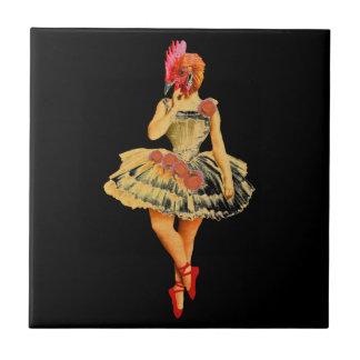 Ballet Hen Ceramic Tiles