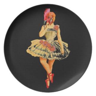 Ballet Hen Plate