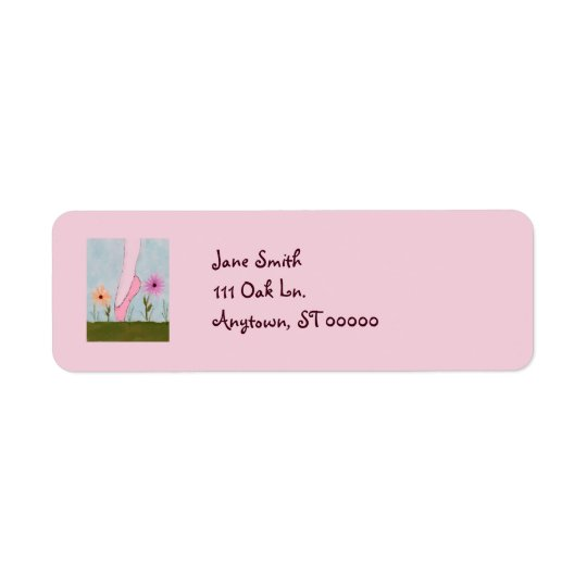 Ballet in Flowers Customizable Address Labels