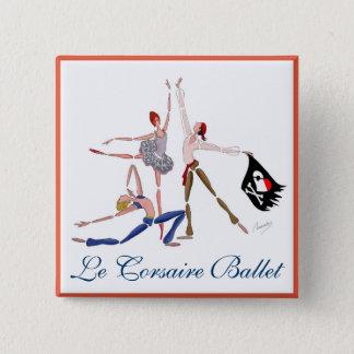 BALLET Le CORSAIRE, PIRATEs BALLERINA MAGNET 2 Inch Square Button