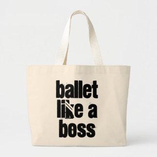 Ballet Like A Boss - Black & White Jumbo Tote Bag