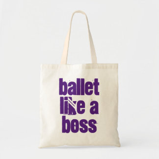 Ballet Like A Boss - White & Purple Tote Bag