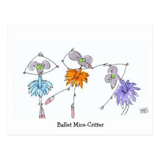Ballet Mice-Critter Postcard