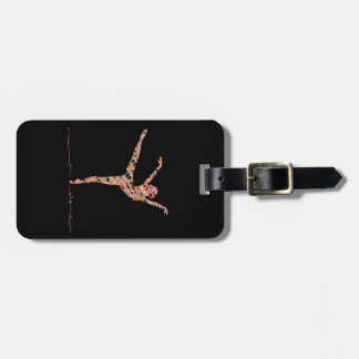 Ballet modern dancer luggage tag