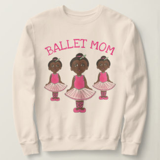 BALLET MOM Dancemom Dance Ballerina Pink Tutu Sweatshirt