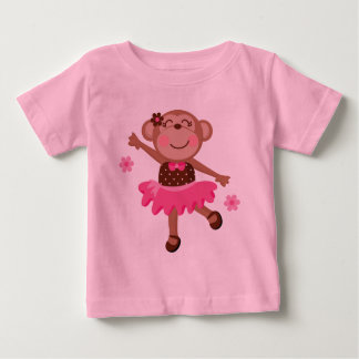 Ballet Monkey Cute Baby T-Shirt