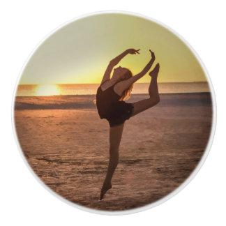 Ballet on the Beach Ceramic Knob