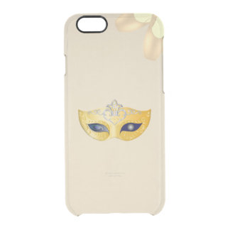 Ballet Opera Golden Mask and Pointe Shoes Clear iPhone 6/6S Case