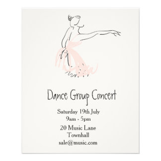 Ballet or modern dance performance flyer